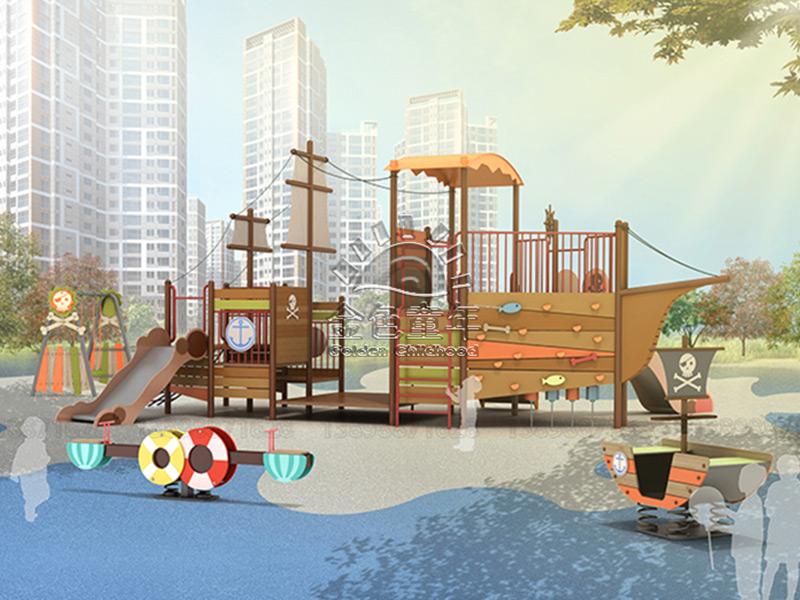丹東推薦卡通組合滑梯-特色的主題定制滑梯就在沈陽金色童年游樂玩具