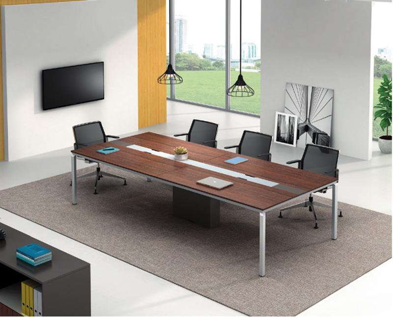 会议桌厂家直销-合肥盛百森办公家具厂家生产定制会议桌