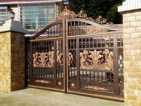 铝艺庭院门/拉丝铝合金大门