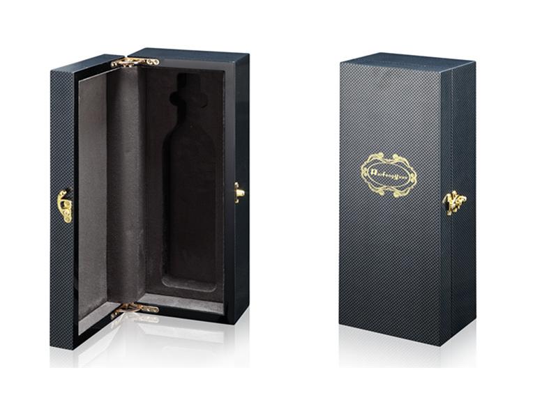 工厂生产定制高等级单只装喷漆木质皮质纸质酒盒