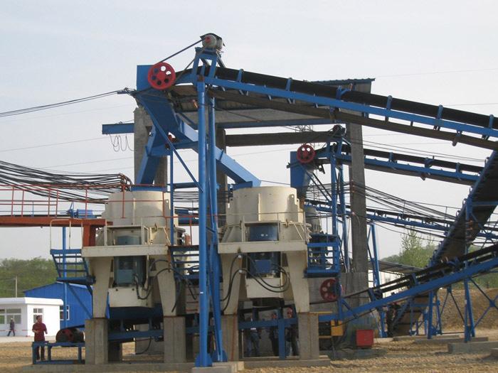 大型电动制砂机_河卵石破碎制砂机