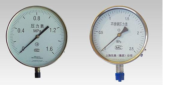 不銹鋼壓力表設計合理、工藝精致|Y-100BF不銹鋼壓力表