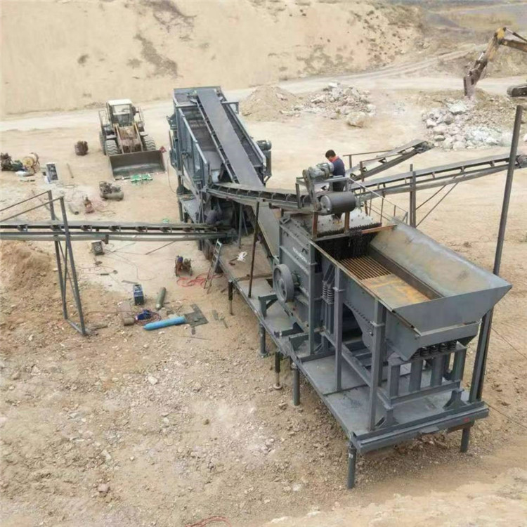 轮斗式破碎制砂洗砂设备工作原理