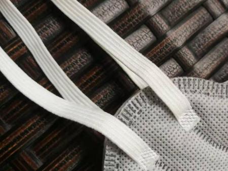 医用专用口罩白色口罩绳针织松紧带-合格的3MM5MMN95口罩绳针织扁松紧带供应商当属德盛织带