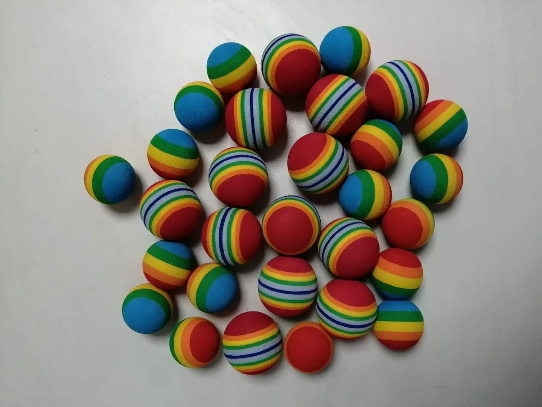 物超所值的EVA泡棉彩色彩虹球玩具球 凯胜泡棉有品质的EVA玩具球供应