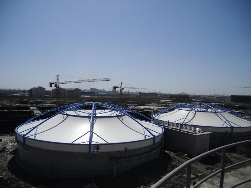 污水池加盖,污水池密封除臭,污水池膜加盖