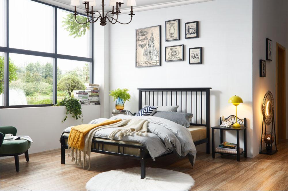 铁艺床尺寸|口碑好的Ds-809#  黑色铁艺床到哪买
