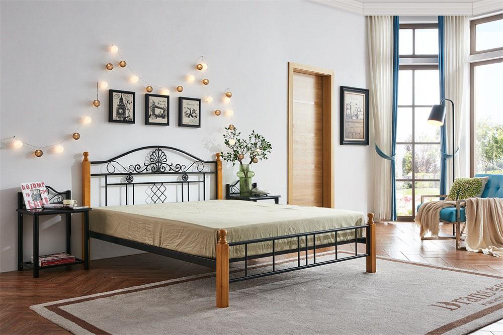 工地铁床批发-供应迪泰家具特色的501#钢木床