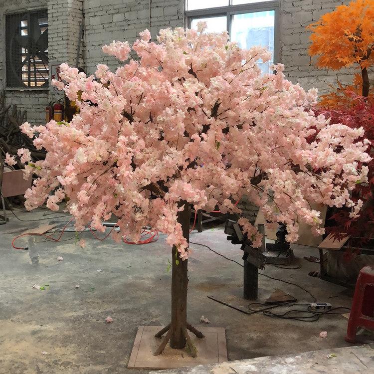 仿真櫻花樹的制作過程_的仿真櫻花樹桃花樹廣州市盛庭優惠供應