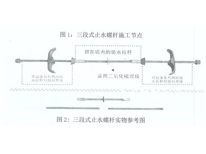宁夏三段式止水螺杆代理加盟-出售银川三段式止水螺杆