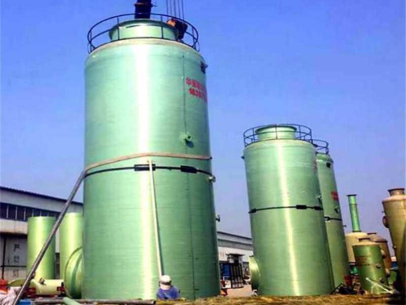 玻璃钢脱硫塔_工业废气喷淋式脱硫吸收塔