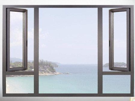 多道密封鋁合金平開窗加工-英為門窗質量好的平開推拉窗新品上市