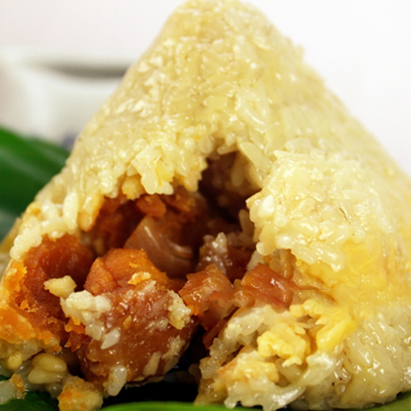 肥仔偉粽子肉粽新鮮裹蒸粽咸蛋黃瑤柱裹蒸粽