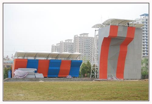 空间张拉膜图纸 设计制造气模建筑体育场