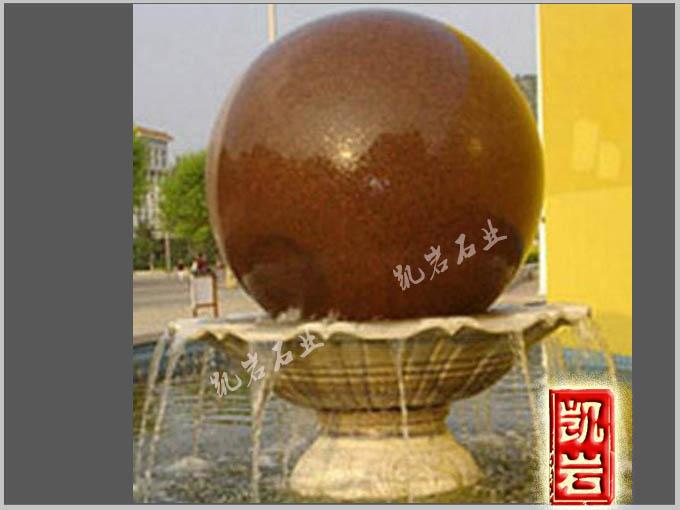 福建石雕-石雕風水球噴泉-凱巖石業