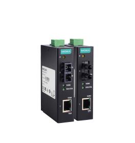&智能交通监控市场工业级百兆光纤收发器MOXA IMC-11