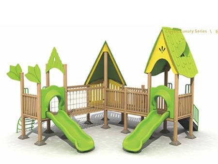 口碑不错的非标定制木塑组合滑梯-温州塑木组合滑梯价格如何