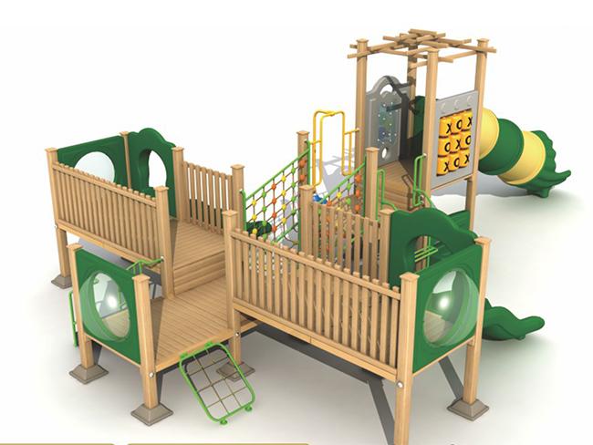 北京大型户外塑木组合滑梯-户外塑木组合滑梯当选童博游乐