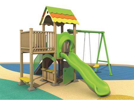 温州幼儿园塑木组合滑梯_温州户外塑木组合滑梯供应商
