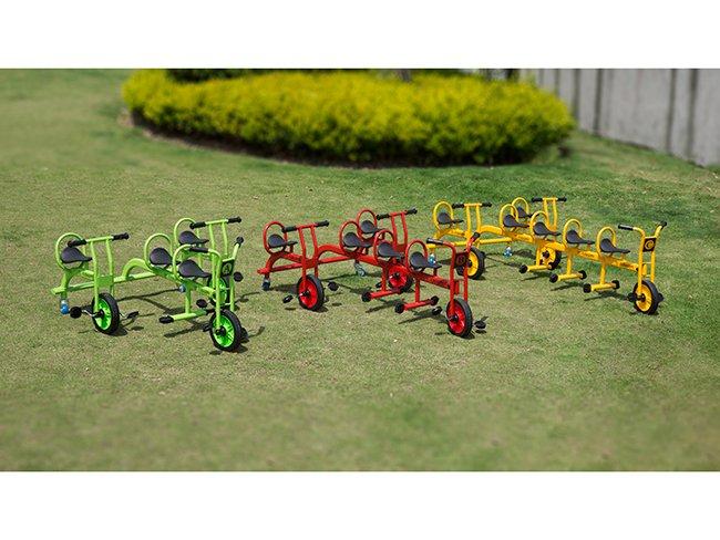 幼儿园四人脚踏车制造商-童众玩具品牌好的儿童童车出售