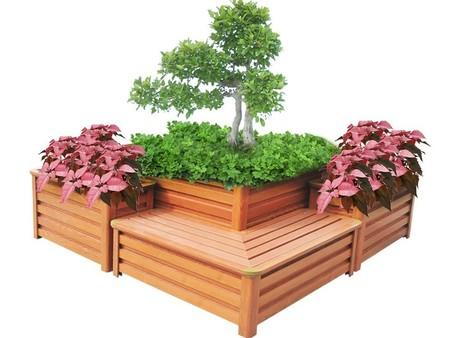 西安防腐木花箱