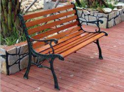 防腐木椅面专注铸铁公园椅3人位休闲长椅定制椅子价格