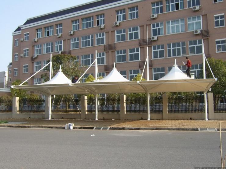 膜結構汽車棚-濱州停車棚膜結構-河北停車棚膜結構