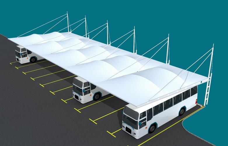 膜結構汽車棚-威海停車棚膜結構-煙臺停車棚膜結構