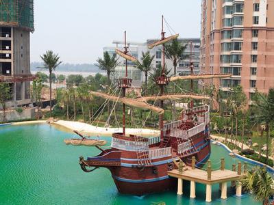 餐饮游船乌篷船道具装饰船拍照拍摄木质景观船