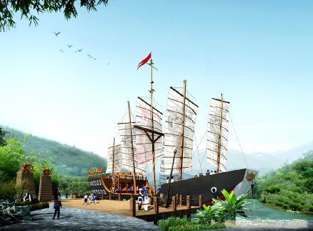 长沙双层游乐海盗船价格大连公园景观船工程冒险与航海精神