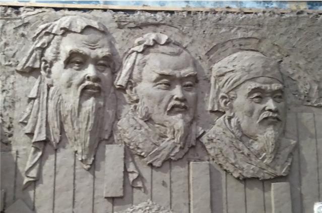 南陽雕塑廠文化墻浮雕