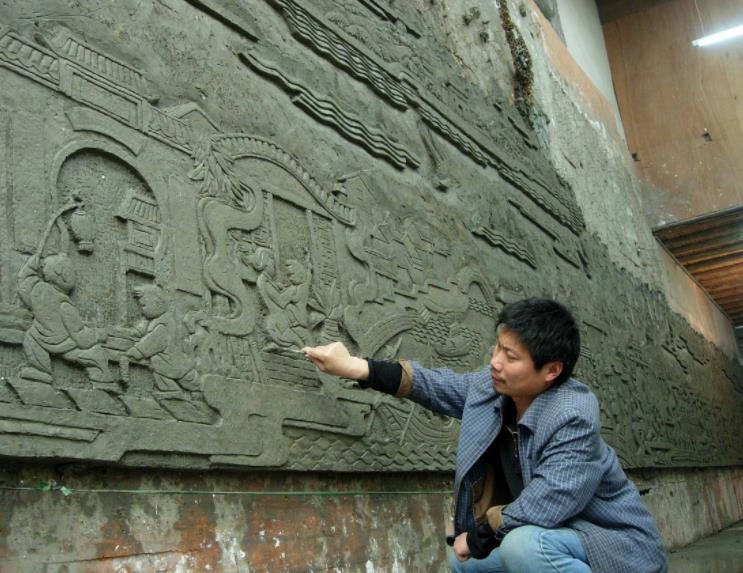 南陽雕塑廠:校園文化墻浮雕設計制作