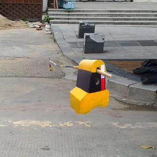 廣東深圳施工圍擋基礎銷售蓮塘羅沙小區防撞刷油漆隔離墩供應電話