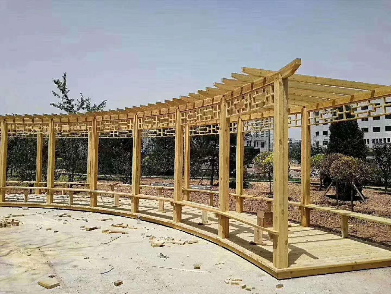 新疆防腐木廊架