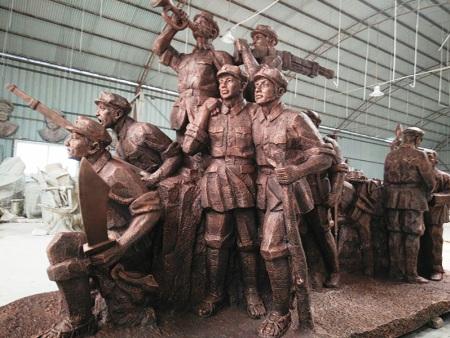 北京铸铜小品雕塑-河北锻铜雕塑安装-河北锻铜雕塑维修翻新