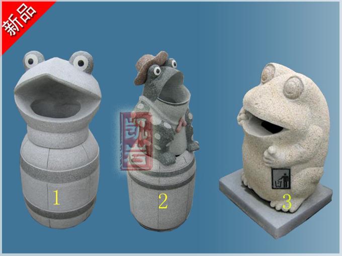 惠安厂家直销-动物石雕垃圾箱造型多样石雕垃圾桶价格-凯岩石业