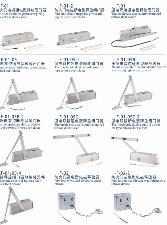 富尔达消防联动闭门器ZN-G图片-联动闭门器断电型电磁释放滑槽专业供应商
