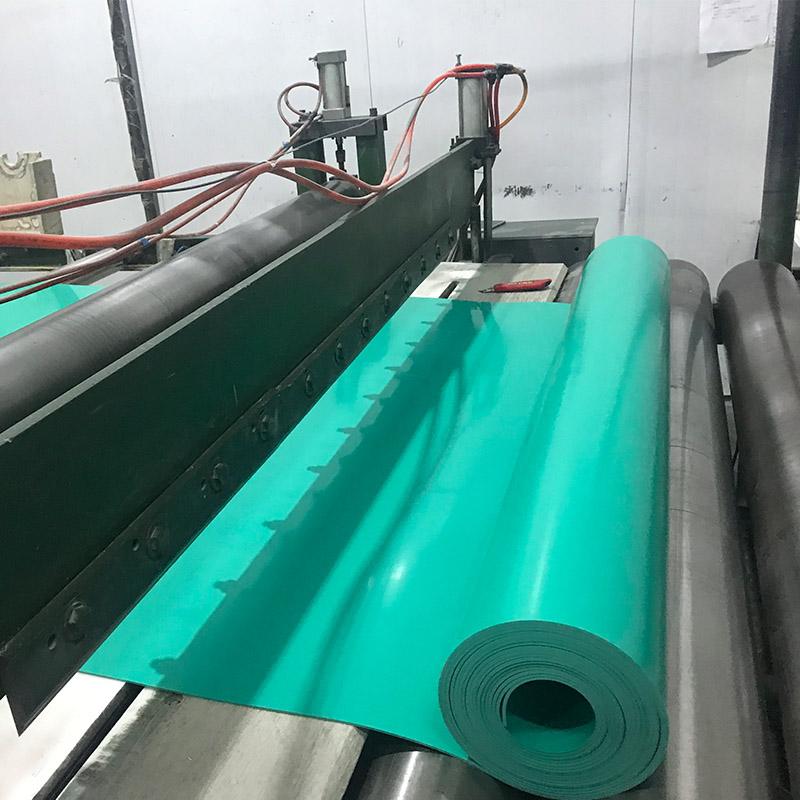 冶炼厂地面抗老化 防水卷材pvc花纹软板pvc绿软板防腐耐酸