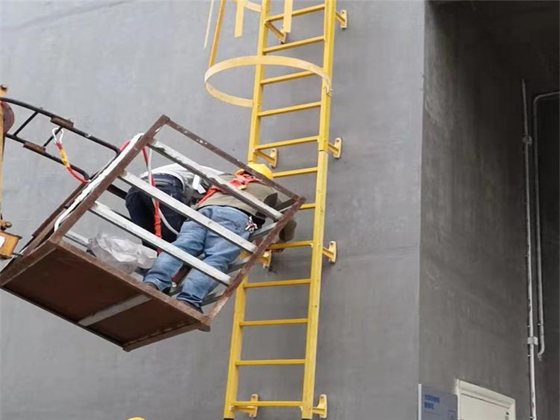 玻璃鋼爬梯 水電站安全爬梯 玻璃鋼直梯 玻璃鋼拉擠爬梯廠家