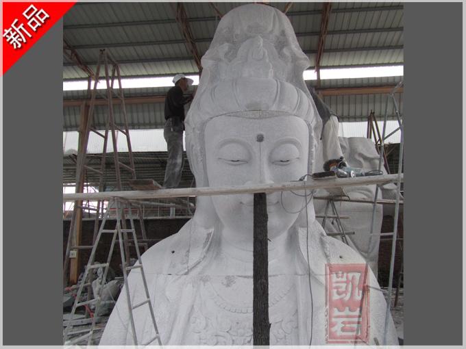 福建廠家批發-大型石雕觀音佛像滴水觀音石雕像-凱巖石業