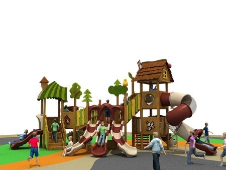 浙江PE板滑梯组合制造商-温州木质组合滑梯生产厂家