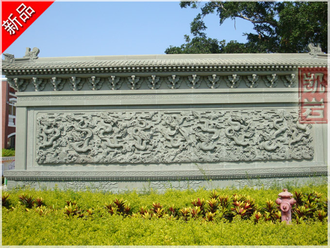 福建廠家直銷-石雕九龍壁浮雕墻質量可靠工藝精湛-凱巖石業