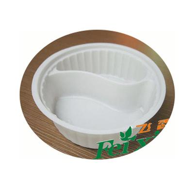 厂家直销批发142口径内托餐碟一次性两格菜碟白色内托碟