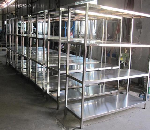南阳不锈钢货架定制河南斯其诺定制不锈钢橱柜质优价廉