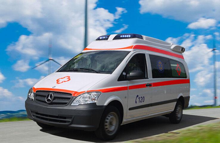 奔驰Vito122监护型救护车德晟医疗
