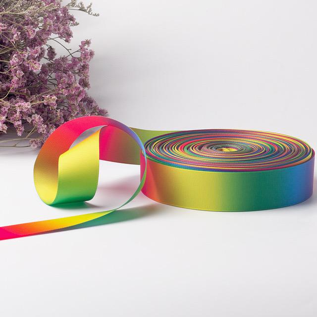 有品质的彩虹渐变色定制款厂家 丝带定制