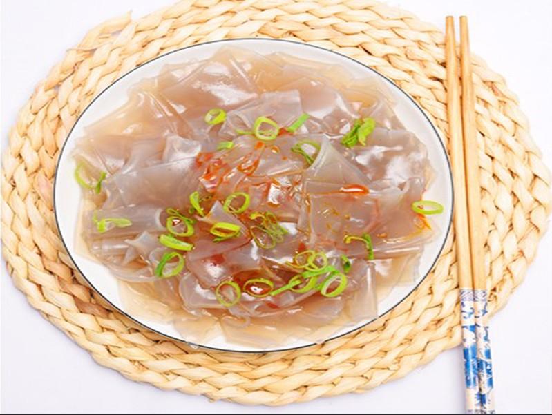 正宗纯红薯粉皮水晶凉拌粉皮河南特产食材烹饪干薄宽地瓜粉皮