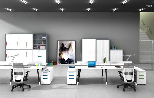 板式办公桌_文件柜应选鹤力办公家具
