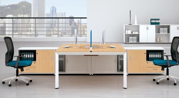 钢架办公桌-板式办公家具-油漆办公家具