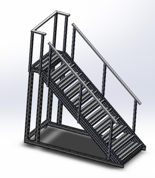 沈阳铝型材爬梯_铝型材检修台_铝型材走台-选择顺益德质量可靠